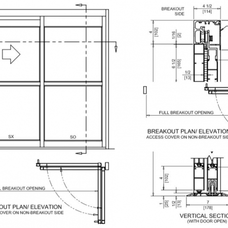 Track / Full Breakout – Manual Sliding Door