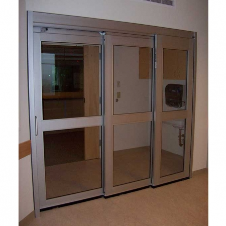 Trackless / Fixed Sidelite – Manual Sliding Door