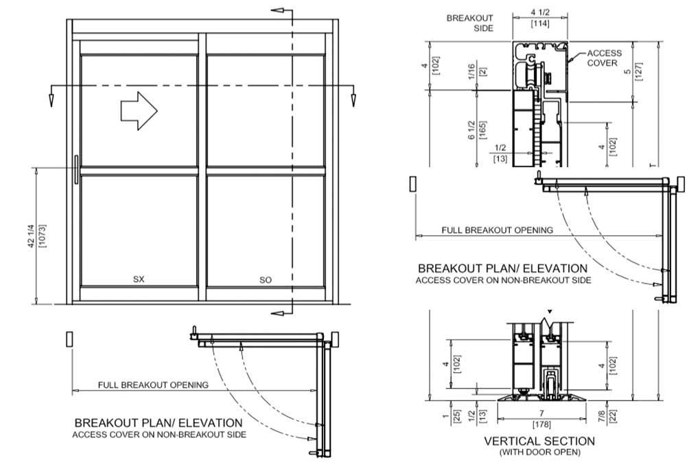 Track / Full Breakout – Manual Sliding Door